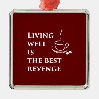 Living Well is the Best Revenge Christmas Ornament