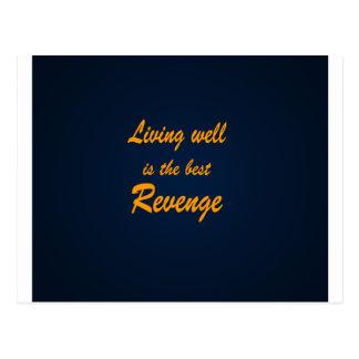 Living Well is the Best Revenge Postcard