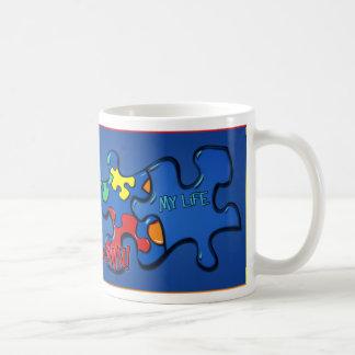 Living With Autism Basic White Mug