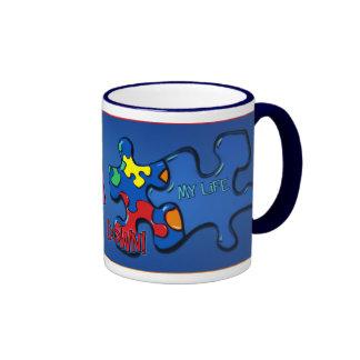Living With Autism Ringer Mug