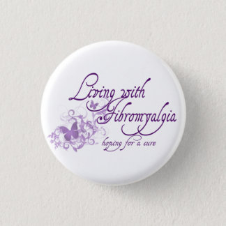Living with Fibromyalgia 3 Cm Round Badge