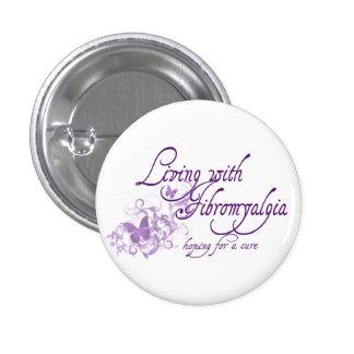 Living with Fibromyalgia 3 Cm Round Badge