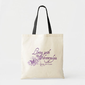 Living with Fibromyalgia Budget Tote Bag