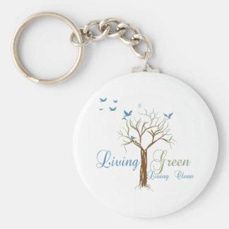 LivingGreen Basic Round Button Key Ring