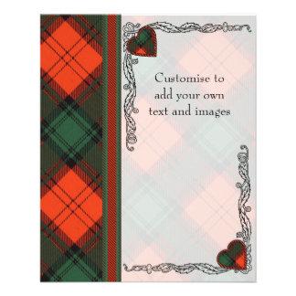Livingston clan Plaid Scottish tartan 11.5 Cm X 14 Cm Flyer