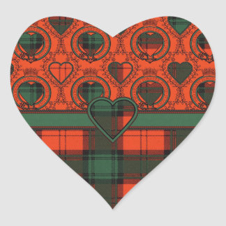 Livingston clan Plaid Scottish tartan Heart Sticker