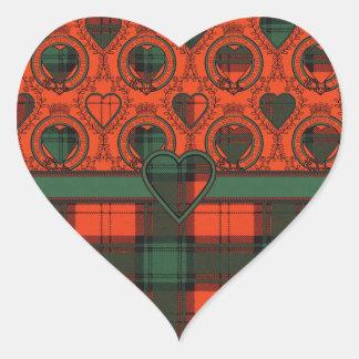 Livingston clan Plaid Scottish tartan Heart Sticker