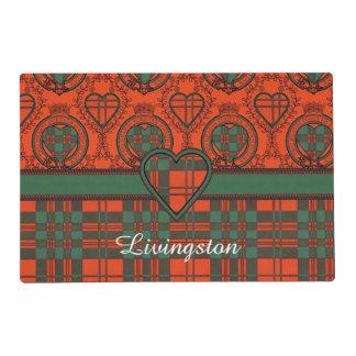 Livingston clan Plaid Scottish tartan Laminated Place Mat