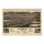 Livingston Montana 1883 Antique Panoramic Map Poster