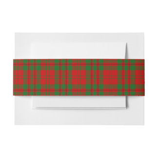 Livingston Scottish Tartan Belly Band Invitation Belly Band
