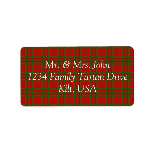 Livingston Tartan Label