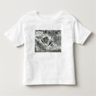Livingstone Attacked by a Lion (engraving) (b/w ph Toddler T-Shirt