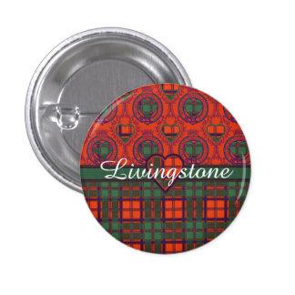 Livingstone clan Plaid Scottish tartan 3 Cm Round Badge
