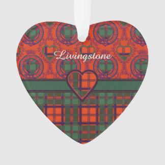 Livingstone clan Plaid Scottish tartan Ornament
