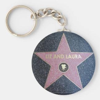 Liz and Laura star key chain