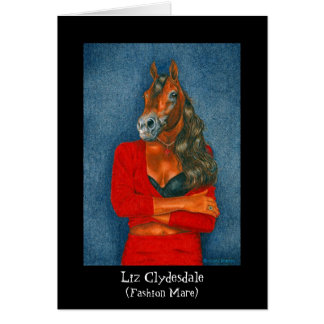 Liz Clydesdale (Fashion Mare) Card