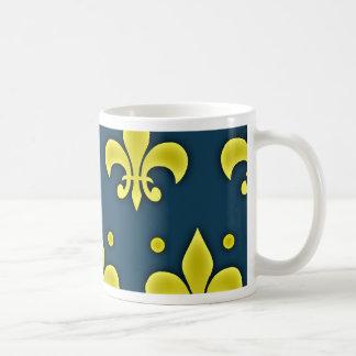 Liz Flower Sign - Fleur-de-lis Basic White Mug