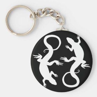 Lizard Art Key Chain Cool Retro Reptile Art Gifts