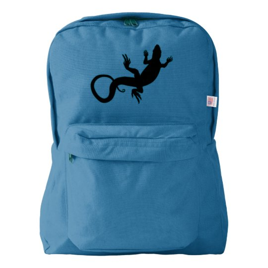 Lizard Backpack Reptile Art School Bags Customise