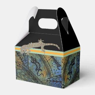 Lizard Batik Wedding Favour Boxes