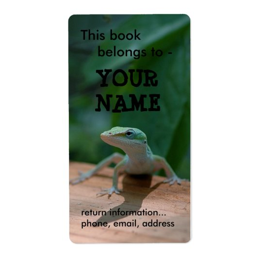 Lizard book label/plate shipping label