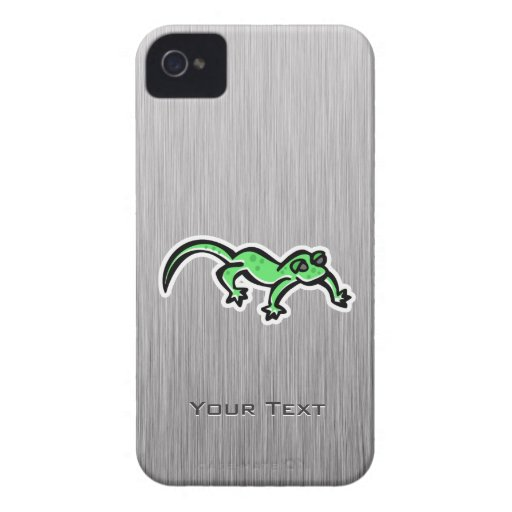 Lizard; brushed metal-look iPhone 4 cover