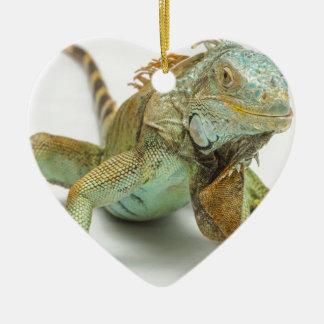 Lizard Ceramic Heart Decoration