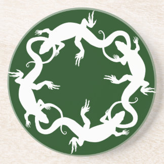Lizard Coasters Reptile Art Decor Lizard Gifts