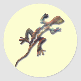 Lizard-copper Classic Round Sticker