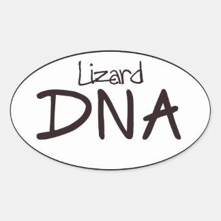 Lizard DNA Euro Oval Sticker Decal