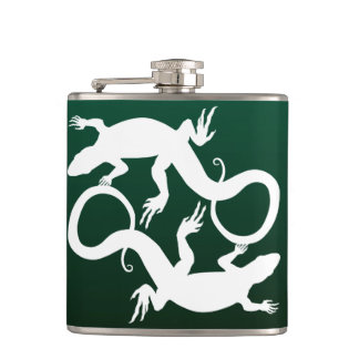 Lizard Flask Custom Reptile Lizard Art Drink Flask