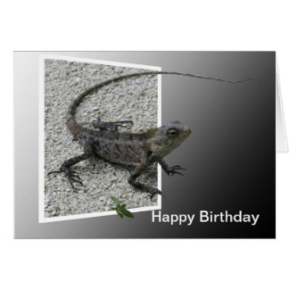 Lizard Flicks Birthday Card