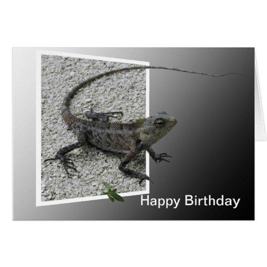 Lizard Flicks Birthday Card