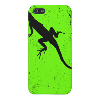 Lizard green with lizard in silhouette case for the iPhone 5