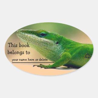 Lizard Lover Anole Book Sticker