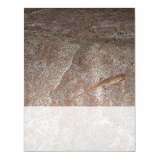 Lizard on Stone. Custom Invite