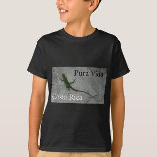 Lizard on Stone wall in Costa Rica Vida! T-Shirt