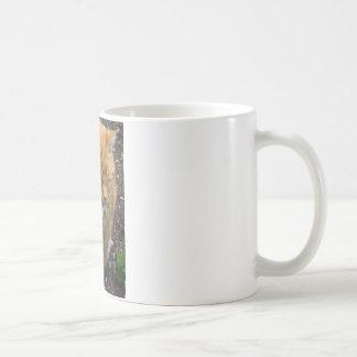 Lizard, Orange Tiger  Cat Coffee Mug