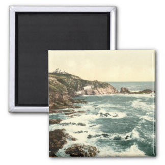 Lizard Point, Cornwall, England Square Magnet
