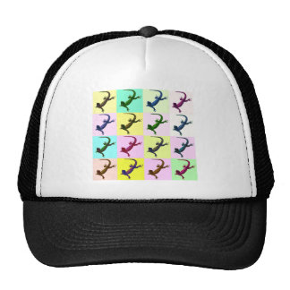 Lizard pop Art Cap