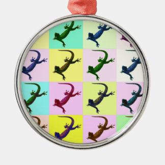 Lizard pop Art Christmas Ornament