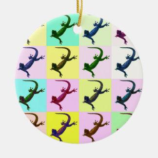 Lizard pop Art Christmas Ornament
