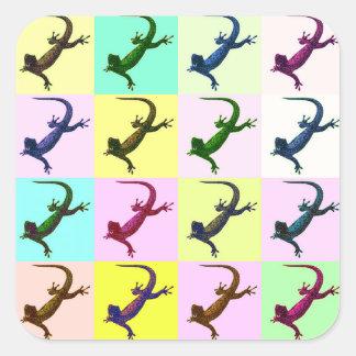 Lizard pop Art Square Sticker