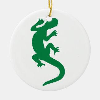 Lizard Round Ceramic Decoration