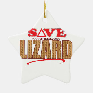 Lizard Save Ceramic Star Decoration