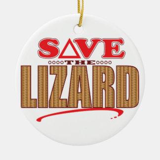 Lizard Save Christmas Ornament