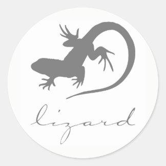Lizard Silhouette Stickers