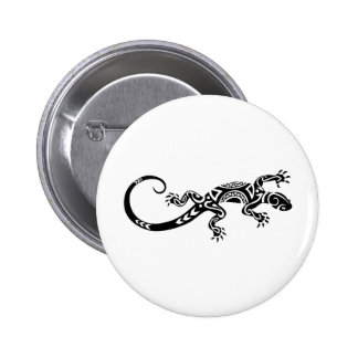 Lizard Tatto 6 Cm Round Badge