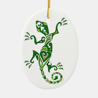 Lizard Tattoo Christmas Tree Ornaments