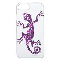 Lizard tattoo/henna in purple